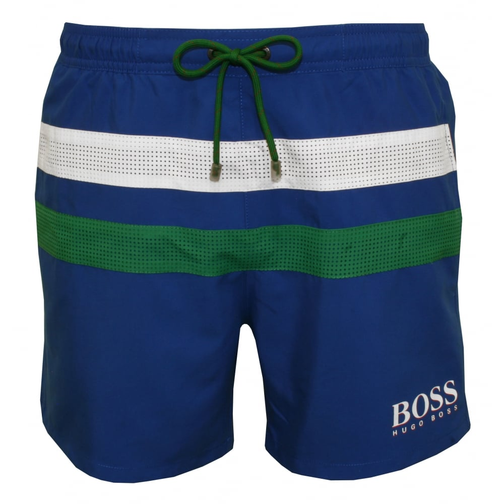 8c18f62fb Hugo Boss Footballfish England Swim Shorts, Italia Blue | UnderU