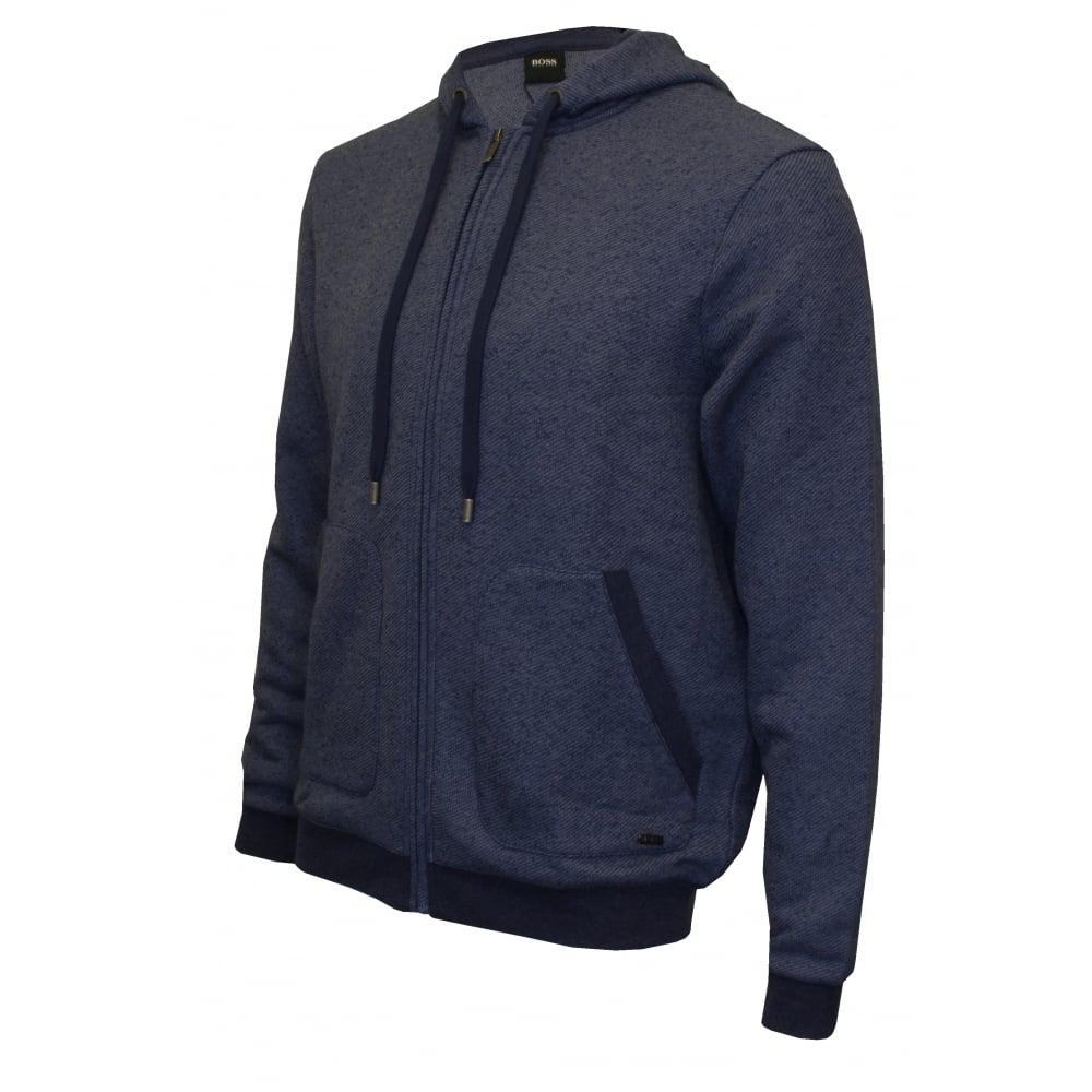 0d5903f32 Hugo Boss Heritage Zip Tracksuit Hoodie, Marl Blue | UnderU