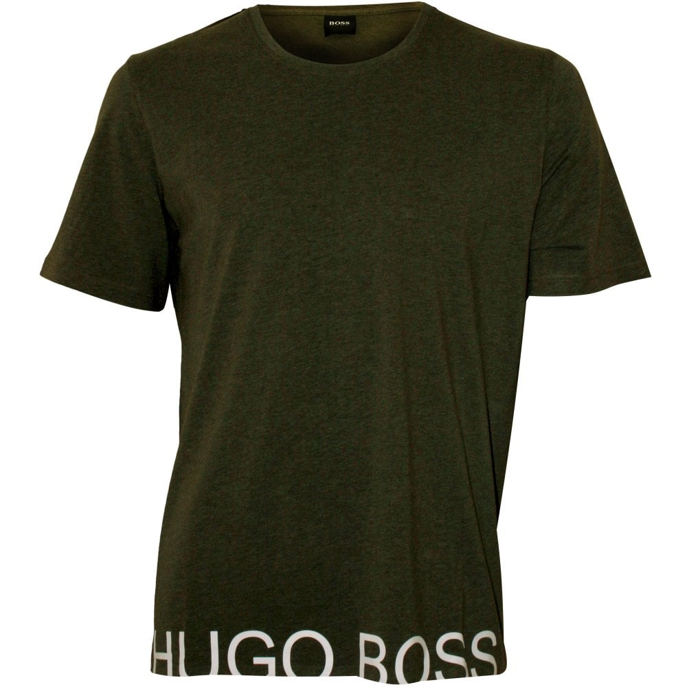 f680219a BOSS Identity Logo T-Shirt, Khaki | Hugo Boss Men's T-shirt | UnderU