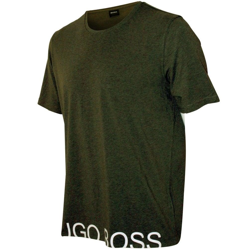 dd784354a BOSS Identity Logo T-Shirt, Khaki | Hugo Boss Men's T-shirt | UnderU