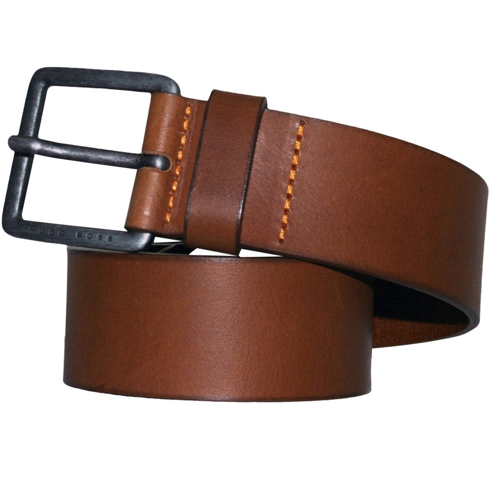 020d3a4d03c4 BOSS Jeeko Casual Leather Belt, Tan Brown | Hugo Boss belts | UnderU