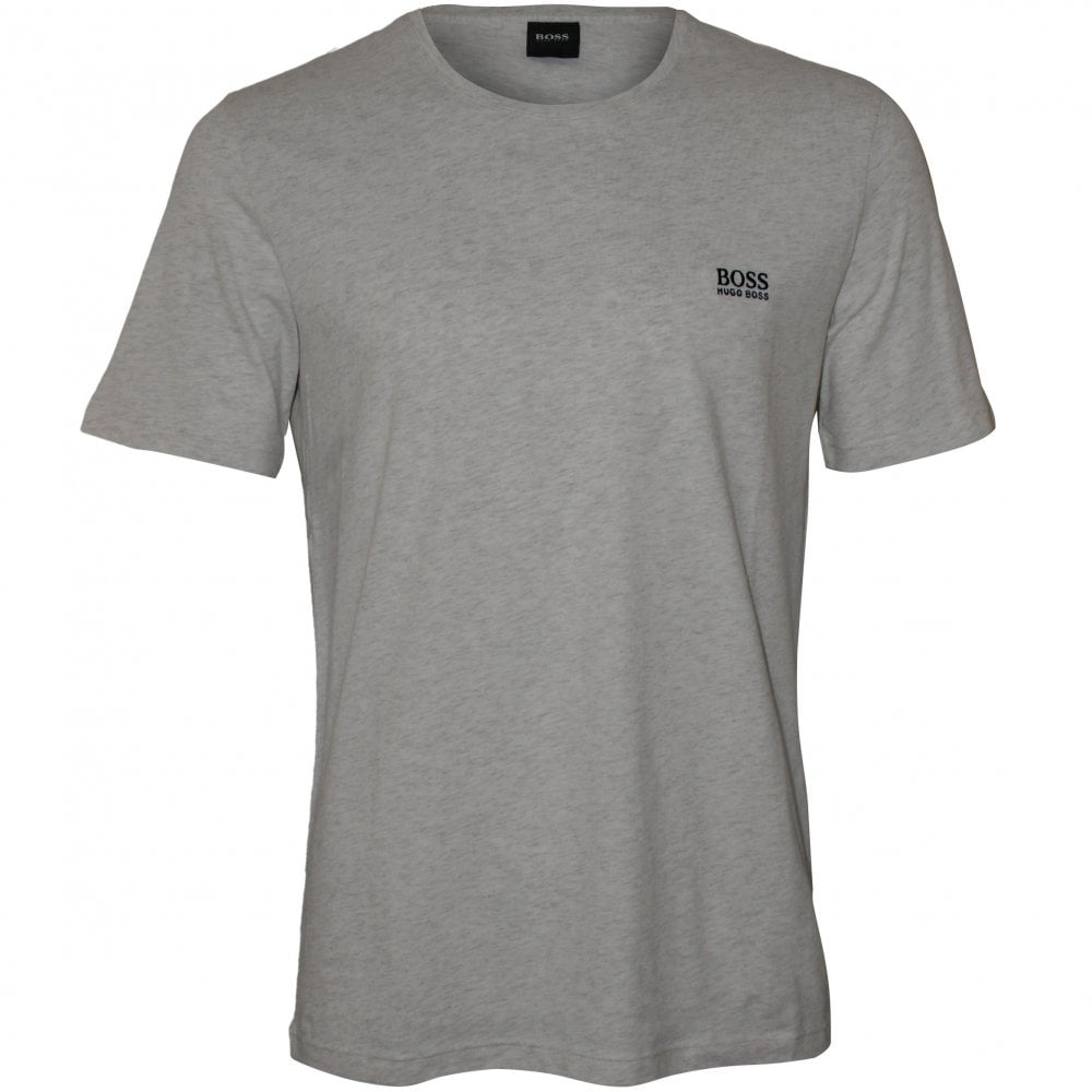 33ef05f64 BOSS Grey Crew-Neck T-Shirt | Hugo Boss Men's T-shirt White | UnderU