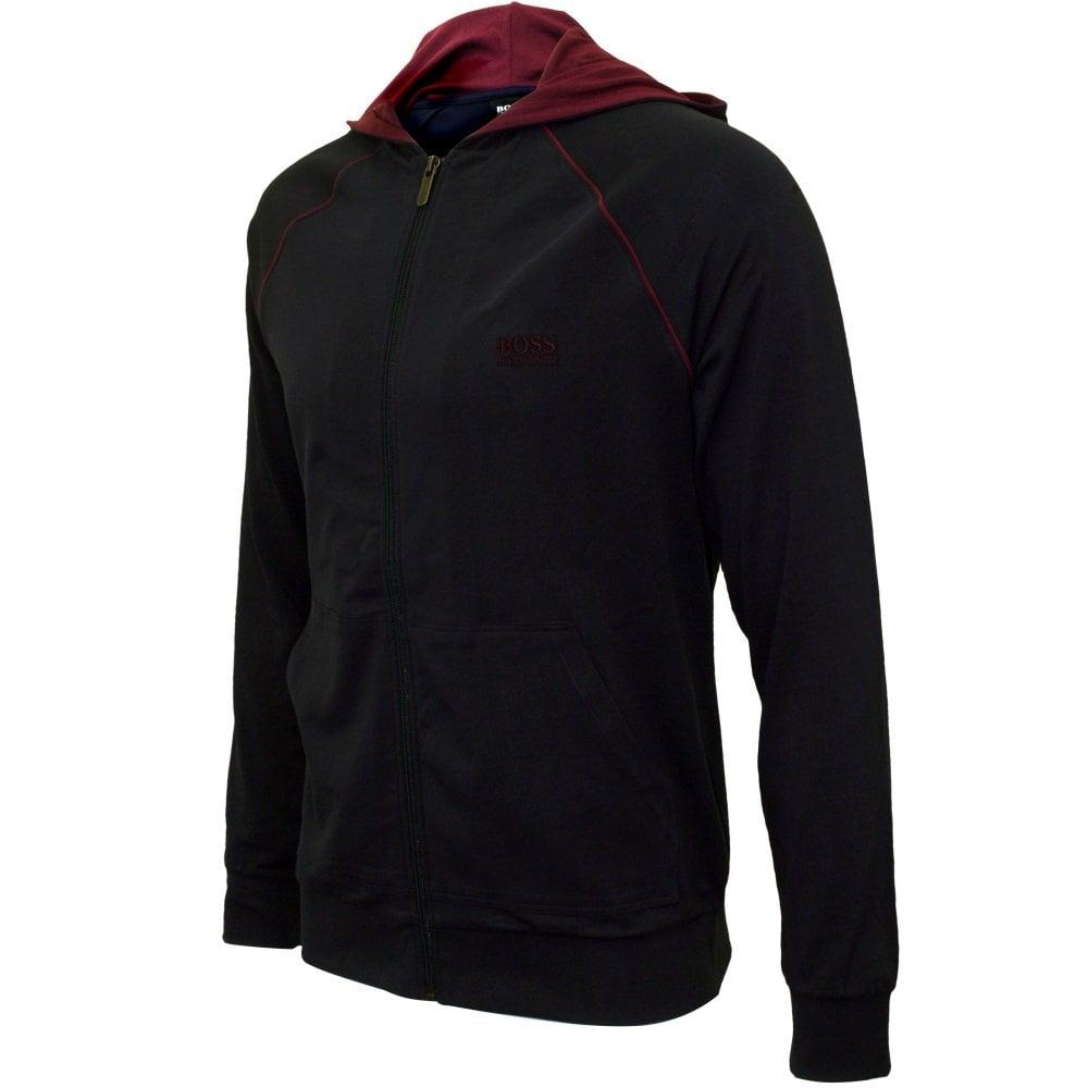 Hugo Boss Mix & Match Zip-Thru Men's Hooded Jacket Sweaters en hoodies Claret/navy