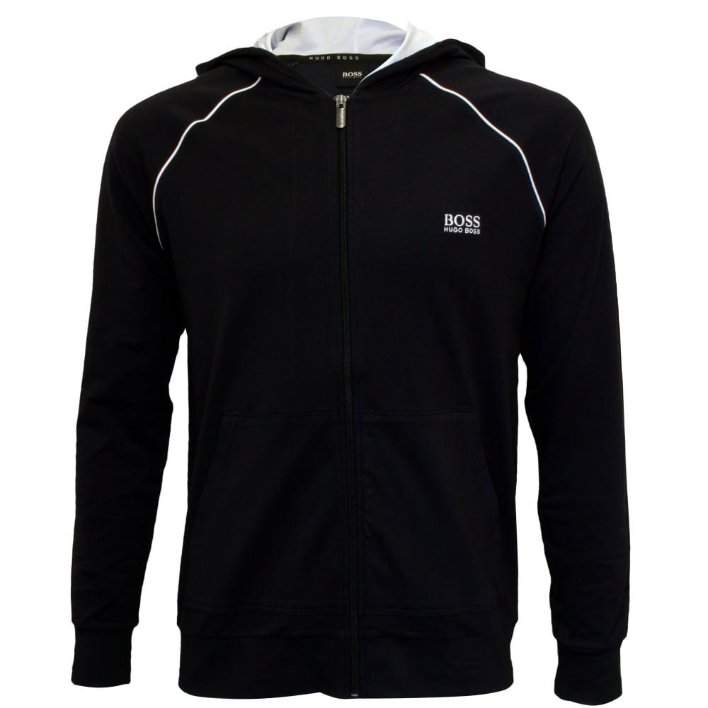 e546c9d51 Hugo Boss Mix & Match Zip-Thru Hooded Jacket, Navy/white   UnderU