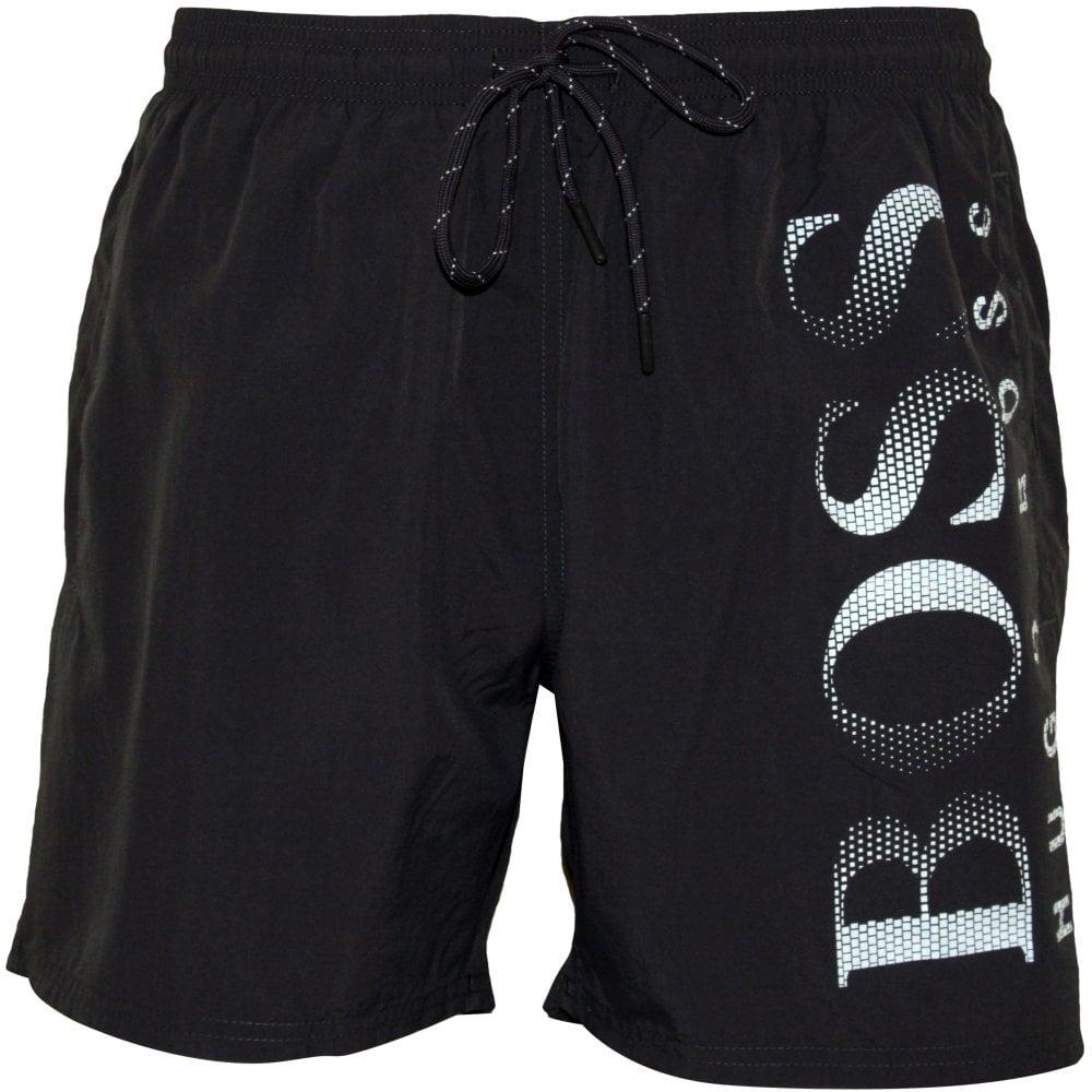 6a6d0cb5 Hugo Boss Octopus Swim Shorts, Grey | Hugo Boss swimwear | UnderU