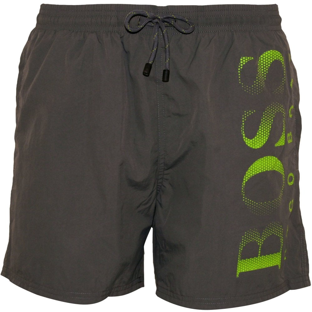 136acb8d98 Hugo Boss Octopus Swim Shorts, Grey | Hugo Boss swimwear | UnderU