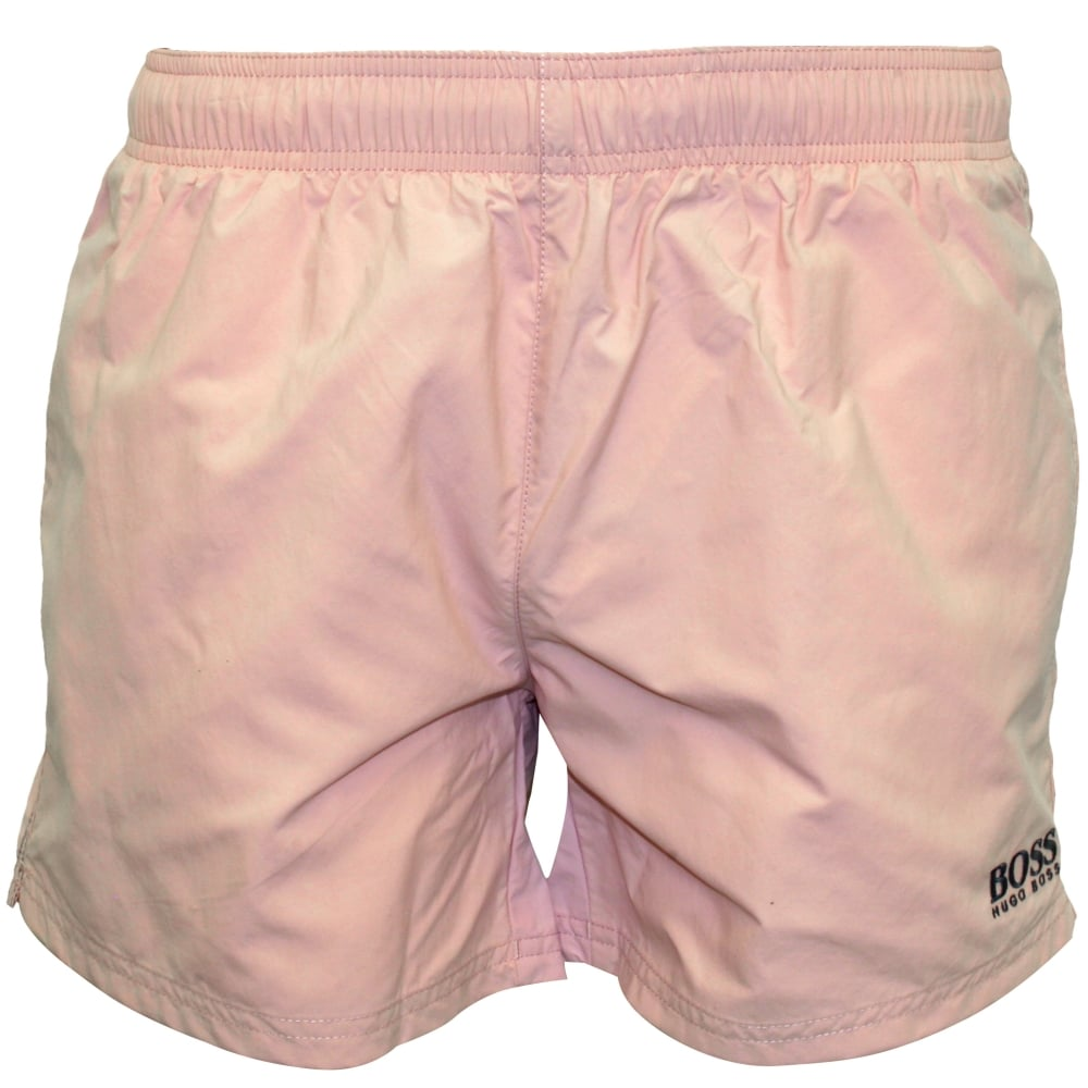 931a8ce750 Hugo Boss Perch Swim Shorts, Soft Pink   Boss swim shorts   UnderU