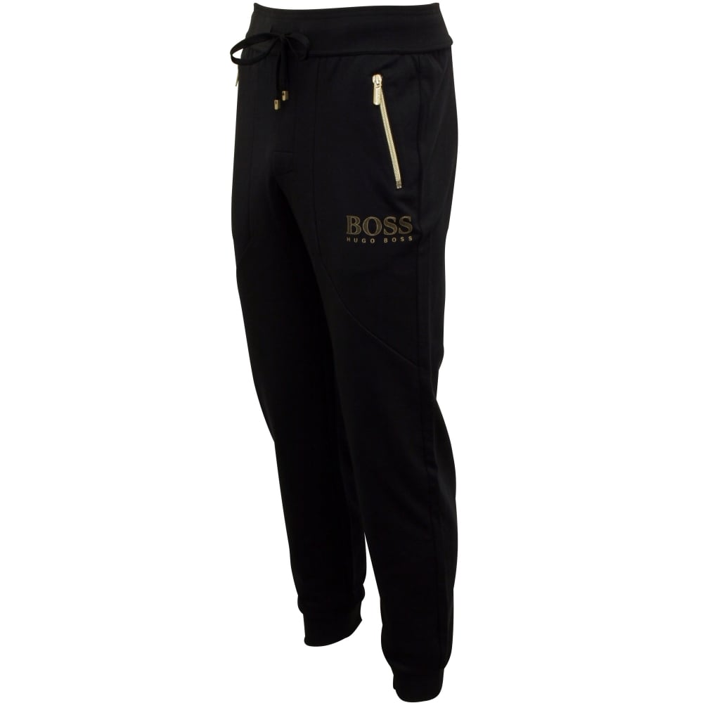 dirt cheap cheaper moderate cost Pique Cotton Zip Tracksuit Bottoms, Navy with gold