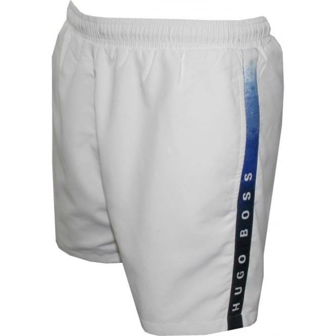 3c95ad6a Hugo Boss Seabream Swim Shorts, White | UnderU