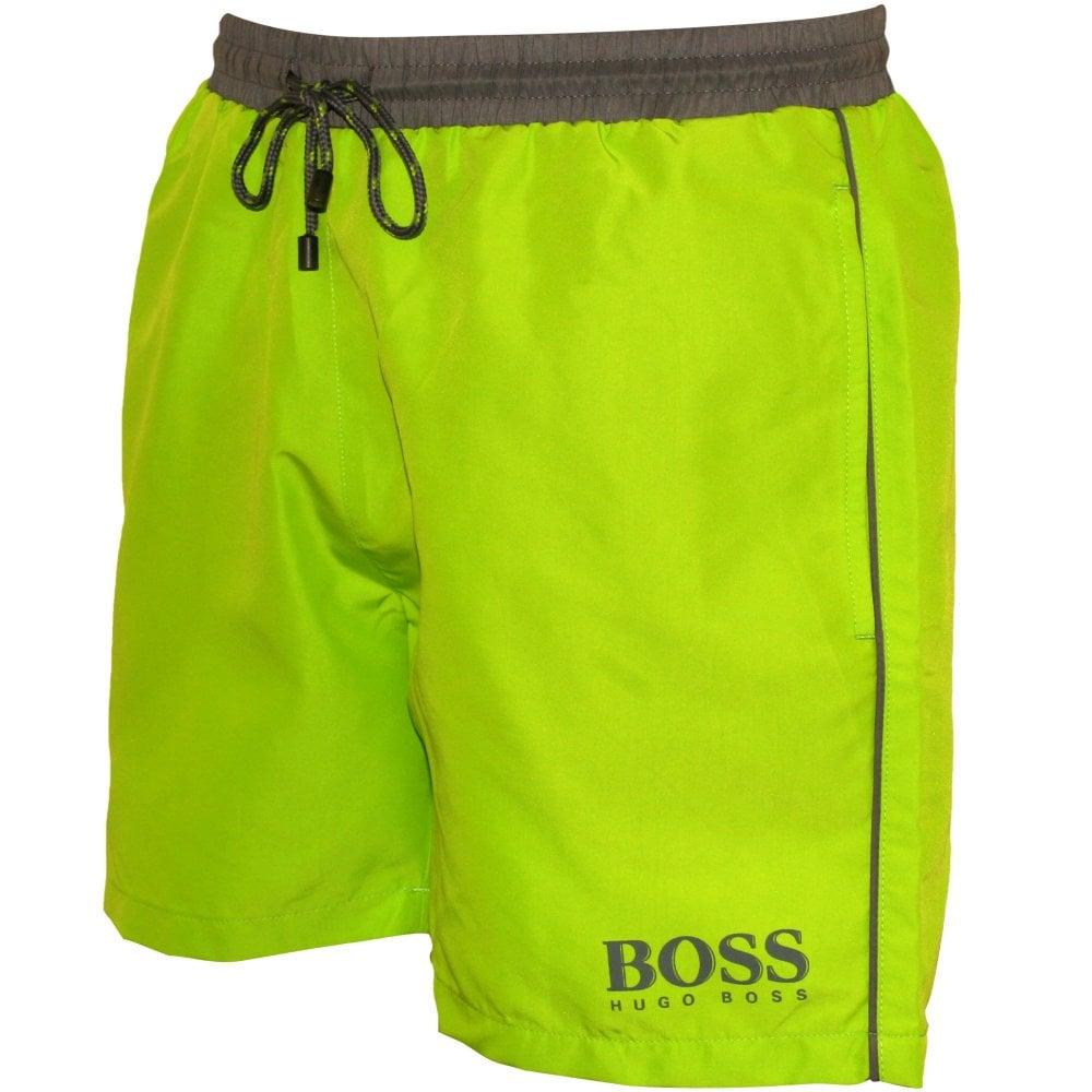 97ff46faa0 Hugo Boss Starfish Swim Shorts, Lime with grey contrast | UnderU