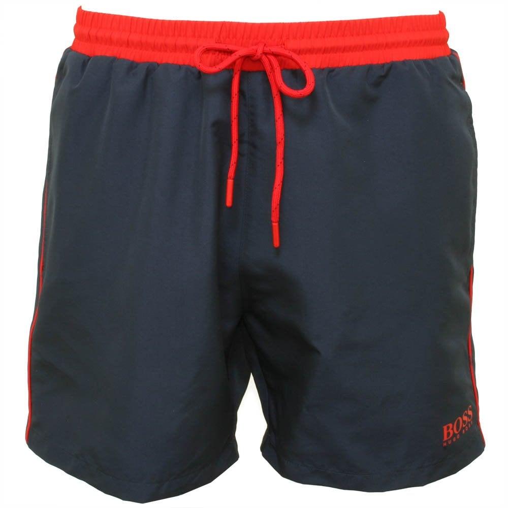 f2935591f Boss Starfish Swim Shorts, Navy | BOSS by Hugo Boss | UnderU