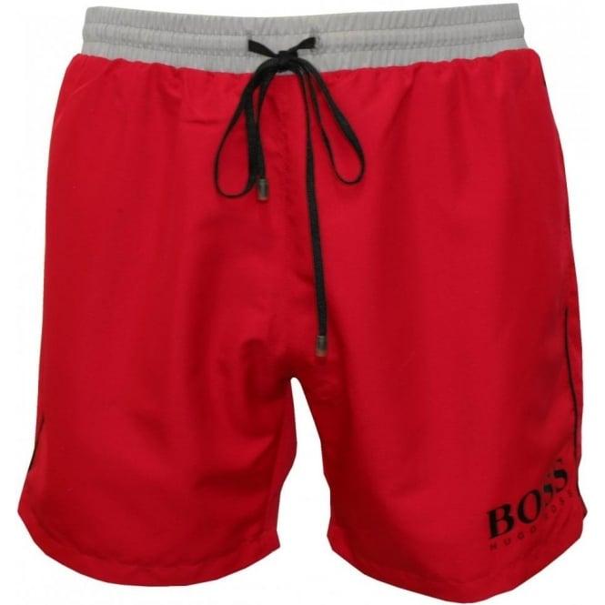 95daa9a25 Hugo Boss Starfish Swim Shorts, Red | UnderU