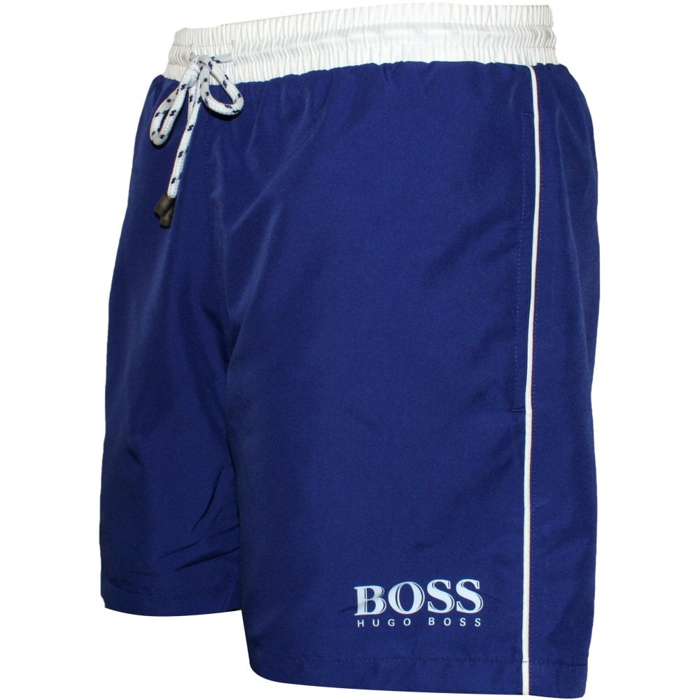abde66866e Hugo Boss Starfish Swim Shorts, Blue with white contrast | UnderU