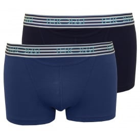 Boxerlines 2-Pack Skyline HO1 Boxer Trunks, Navy/Blue