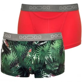 Boxerlines Exotic 2-Pack HO1 Boxer Trunks, Parrots/Pink