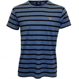 Breton Stripe Crew-Neck T-Shirt, Blue/navy