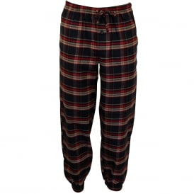 Brushed Flannel Lounge Pants, Red/Navy Tartan