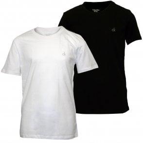 cb45c8d253b4 2-Pack CK Logo Crew-Neck Boys T-Shirts, Black/White Kids · Calvin Klein ...