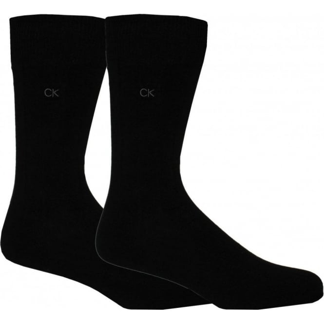 Calvin Klein 2-Pack Cotton Rich Socks, Black