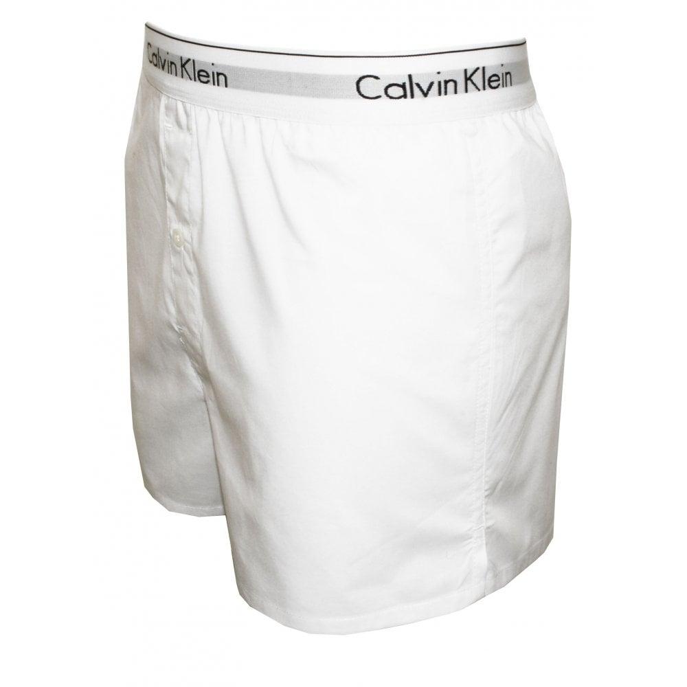 986925c16e Calvin Klein 2-Pack Modern Cotton Boxer Shorts Slim-Fit White | UnderU