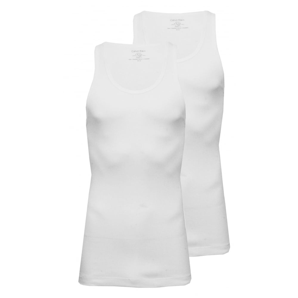 b4062c9eef8 2-Pack Pure Cotton Vests, White