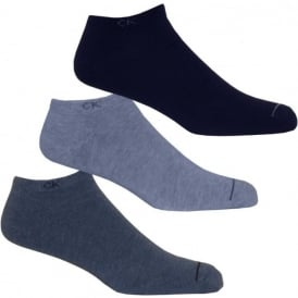 3-Pack Casual Trainer Socks, Blue