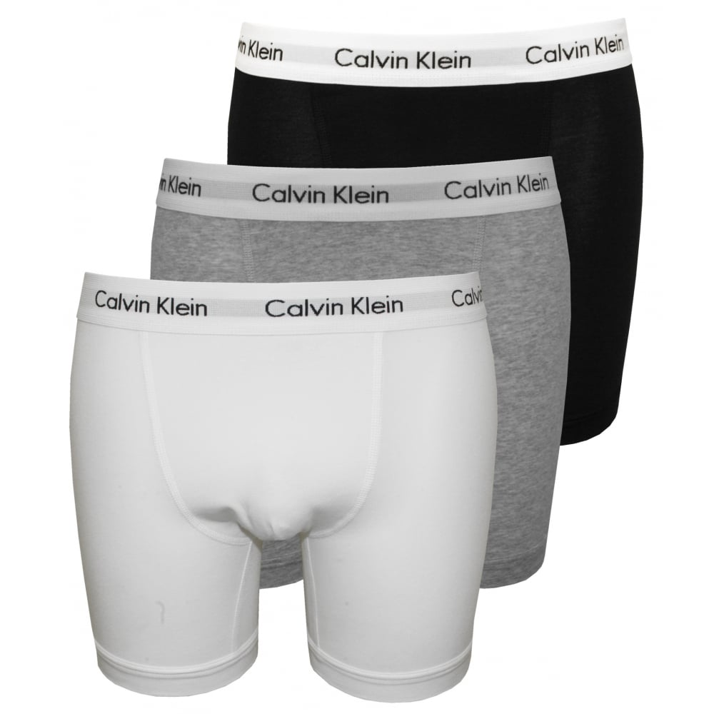 special selection of fashion styles buy popular 3-Pack Classic Boxer Briefs, Black/White/Grey