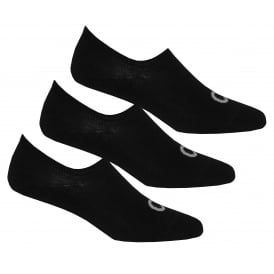 3-Pack Logo Liner Socks, Black
