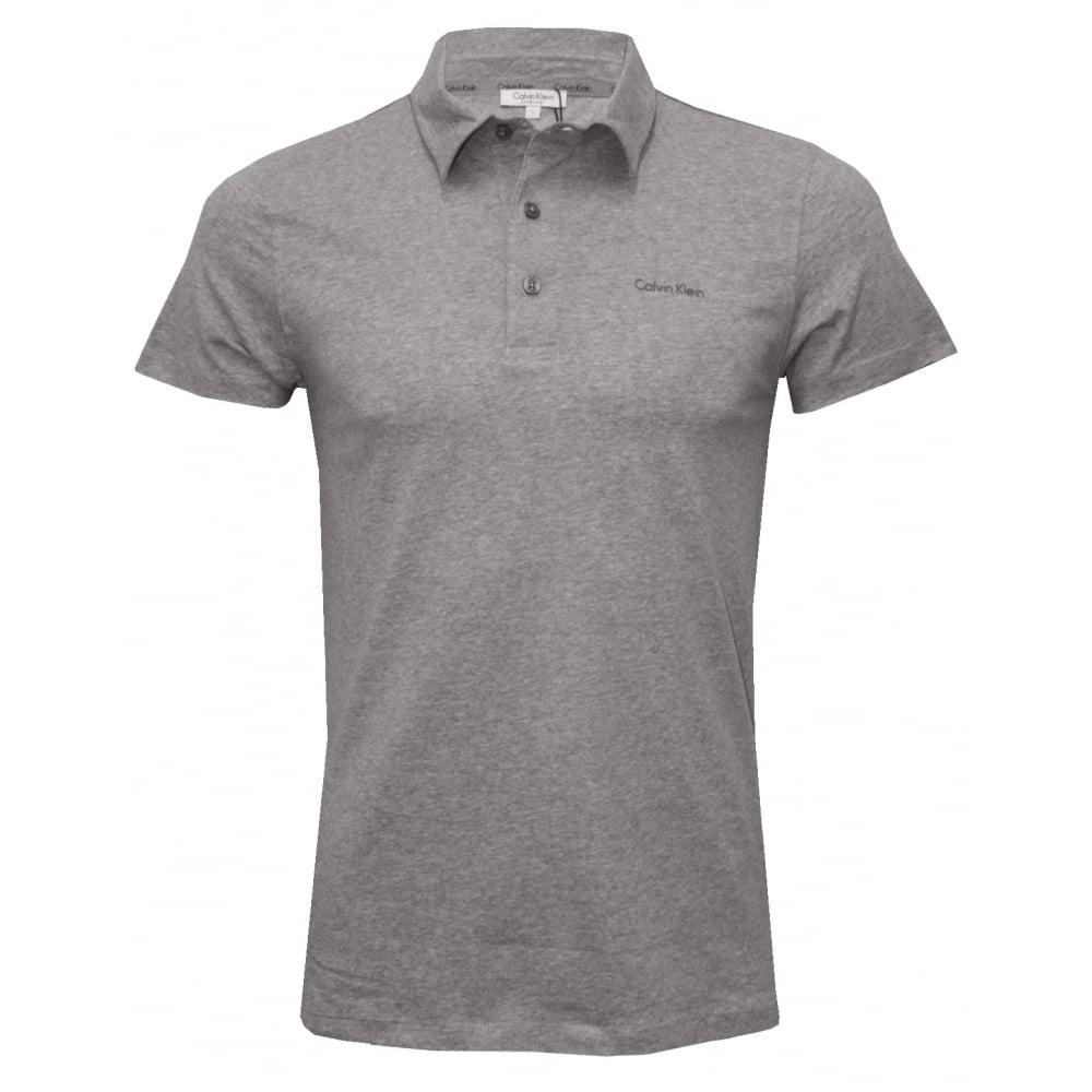 93f9e9a04c Calvin Klein Beach Polo Shirt, Heather Grey | UnderU