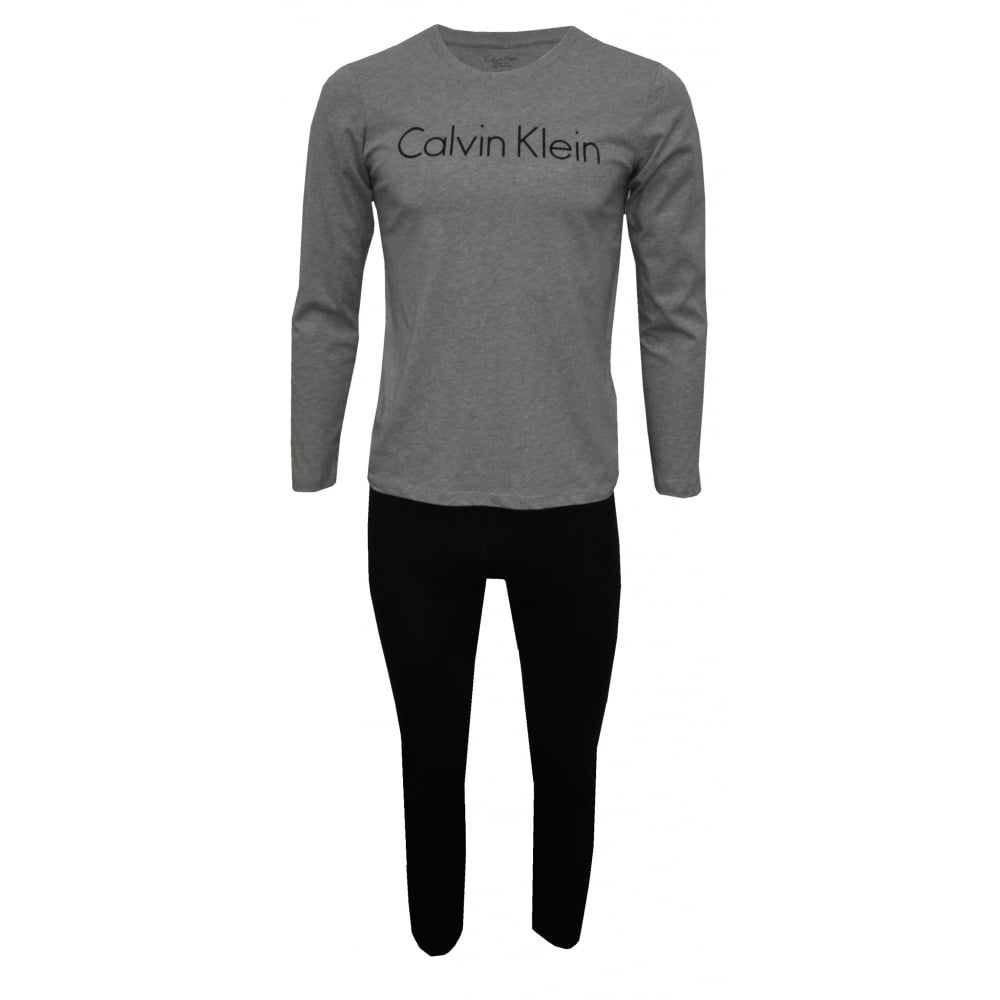 Classic Logo Long Sleeve T Shirt, Grey Heather