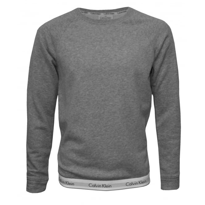 Calvin Klein Classic Logo Waist Sweatshirt, Grey Heather
