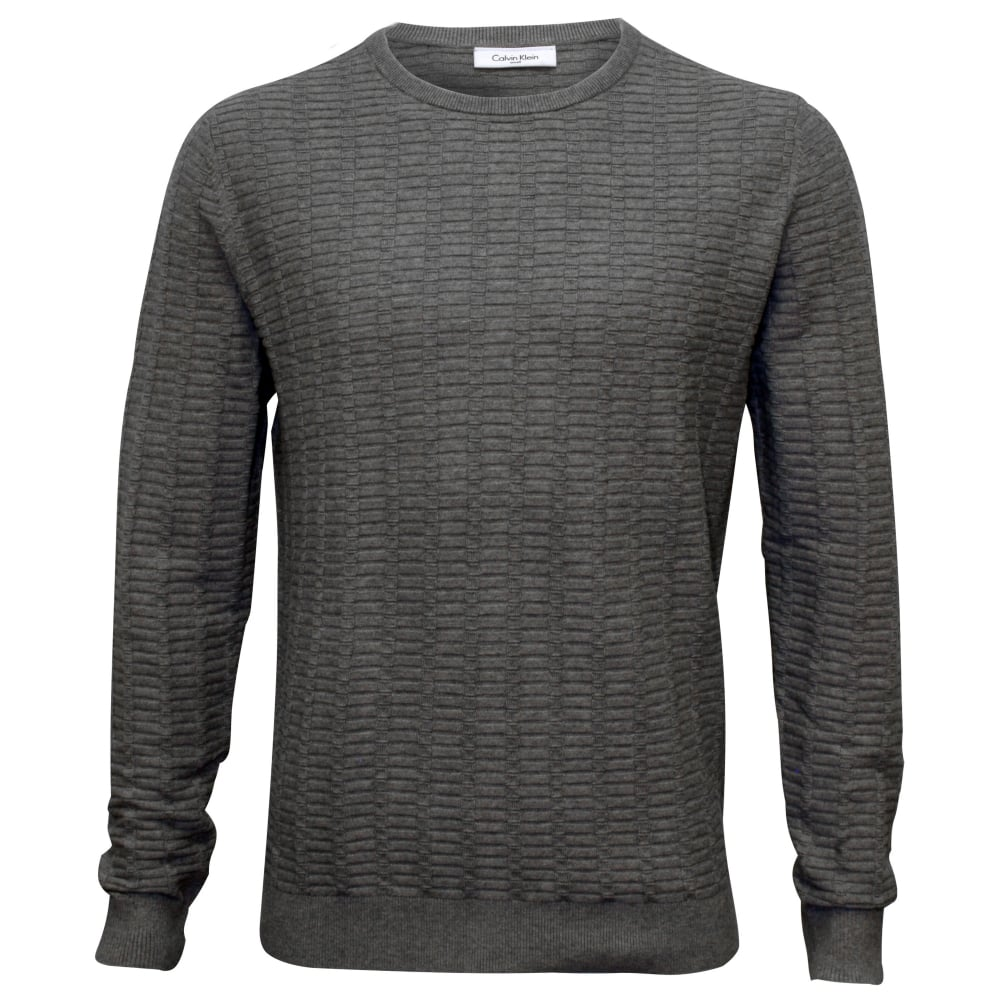 600382f67385 Calvin Klein Crew-Neck Ribbed Knit Sweater