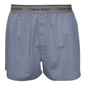 Hadley Stripe Woven Boxer Shorts Traditional-Fit, Sky Blue