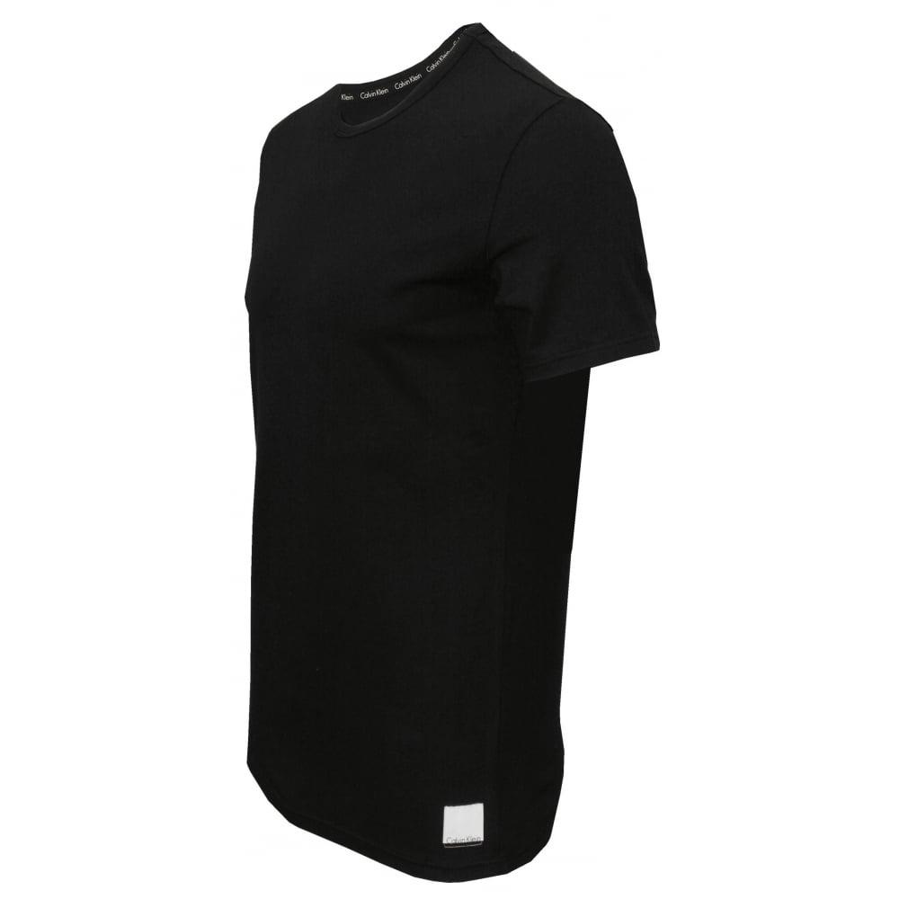 Black t shirt calvin klein - Id 2 Pack Slim Fit Crew Neck T Shirts Black