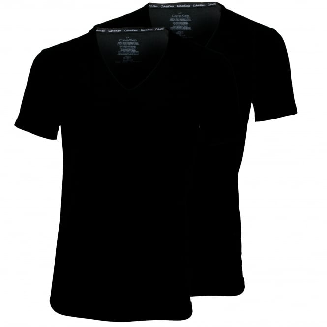 Calvin Klein ID 2-Pack Slim-Fit V-Neck T-Shirts, Black
