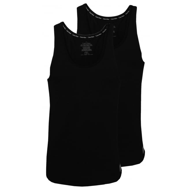 Calvin Klein ID 2-Pack Tank Top Vests, Black