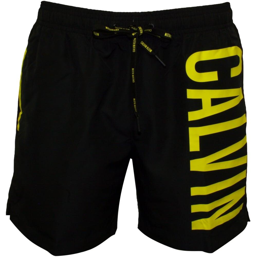 03290f82fd Calvin Klein Intense Power Swim Shorts, Black/neon | UnderU