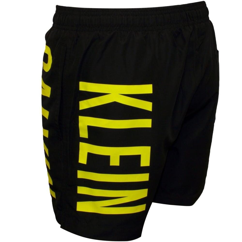 816ef242a4 Calvin Klein Intense Power Swim Shorts, Black/neon | UnderU