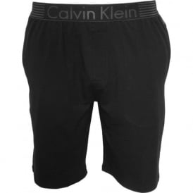 Iron Strength Cotton Jersey Lounge Shorts, Black