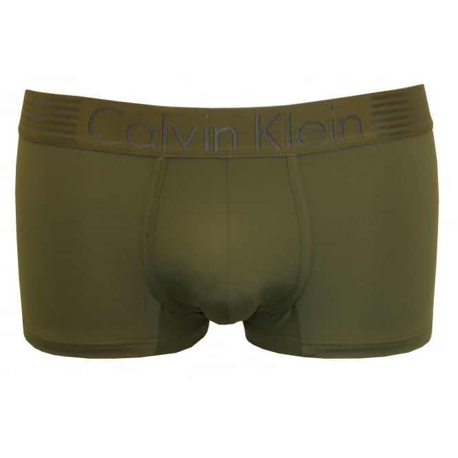 Calvin Klein Iron Strength Low-Rise Microfibre Boxer Trunk, Hunter Green