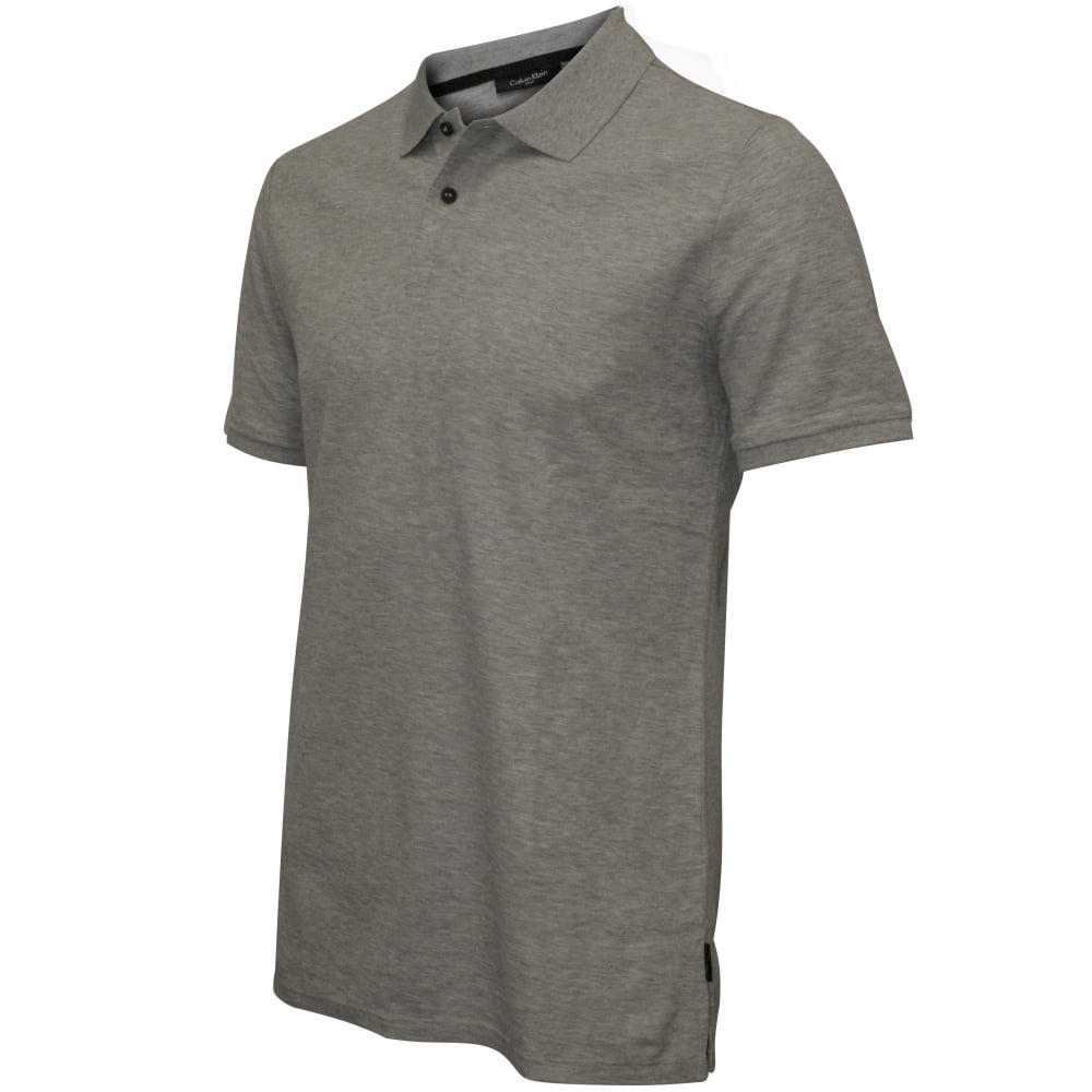 21ee0f5d5 Calvin Klein Jacob Refined Pique Chest Logo Polo Shirt, Grey | UnderU