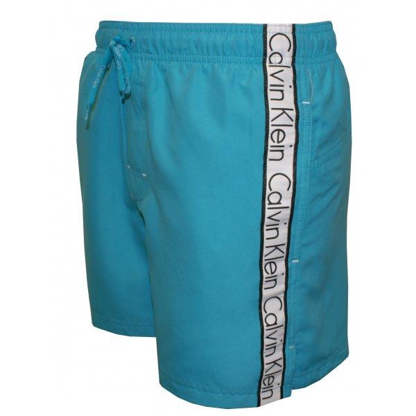 2313e949da Calvin Klein Logo Tape Drawstring Swim Shorts, Turquoise