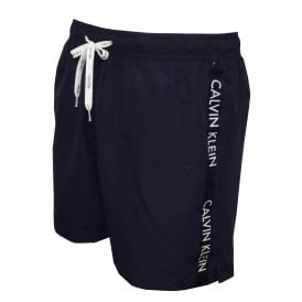 Logo Tape Swim Shorts, Navy