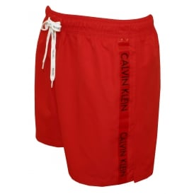 Logo Tape Swim Shorts, Racing Red