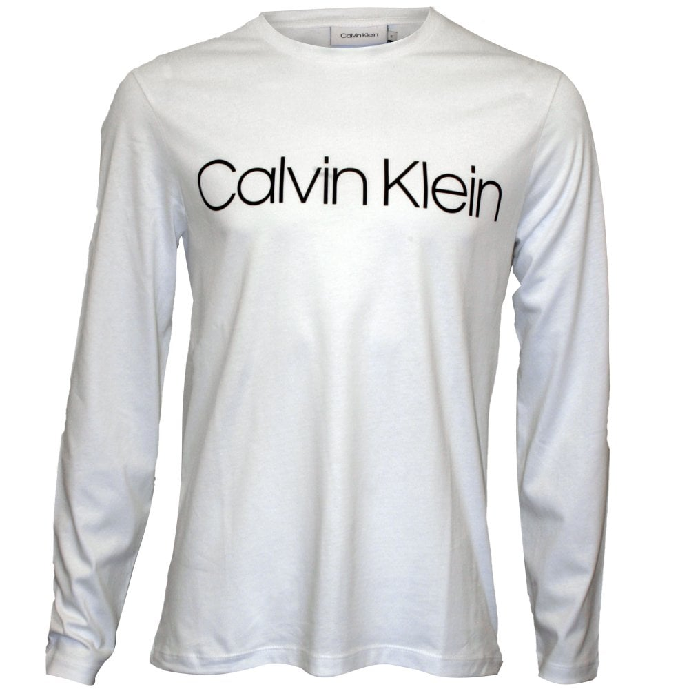 Calvin Klein Long-Sleeve Logo Crew-Neck T-Shirt d570f72290be