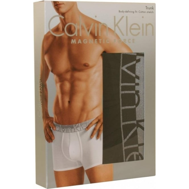 e7cd529fe2b0 Calvin Klein Magnetic Force Cotton Boxer Trunk, Black | UnderU