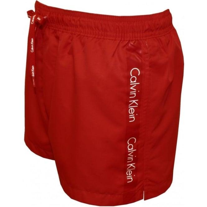 92b13cc87f2 Calvin Klein Logo Tape Short Swim Shorts