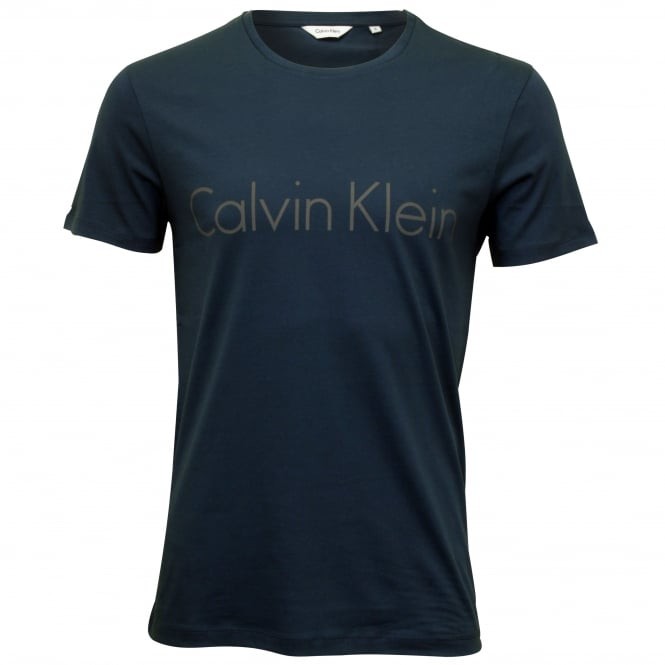 Calvin Klein Tyson Pure Cotton Crew-Neck Logo T-Shirt, English Blue