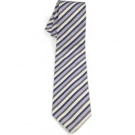Candy Stripe Silk Tie, Lilac