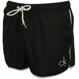 CK NYC Athletic-Cut Swim Shorts, Black